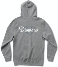 Diamond Supply Co Champagne Cut Hoodie, Heather Grey