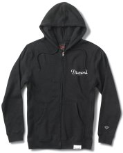 Diamond Supply Co Champagne Script Zip Hoodie, Black