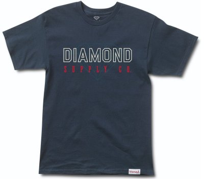 Diamond Supply Co College Tee, Navy