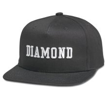 Diamond Supply Co Fordham Snapback, Black