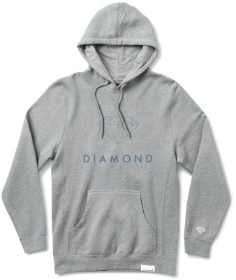 Diamond Supply Co Futura Sign Hoodie, Heather Grey
