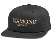 Diamond Supply Co Mayfair Unconstructed Strapback, Black