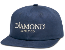 Diamond Supply Co Mayfair Unconstructed Strapback, Navy
