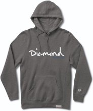 Diamond Supply Co OG Script Hoodie, Charcoal Heather