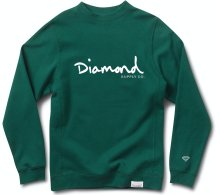 Diamond Supply Co OG Script Crew, Forest Green
