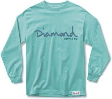Diamond Supply Co OG Script LS Tee, Diamond Blue