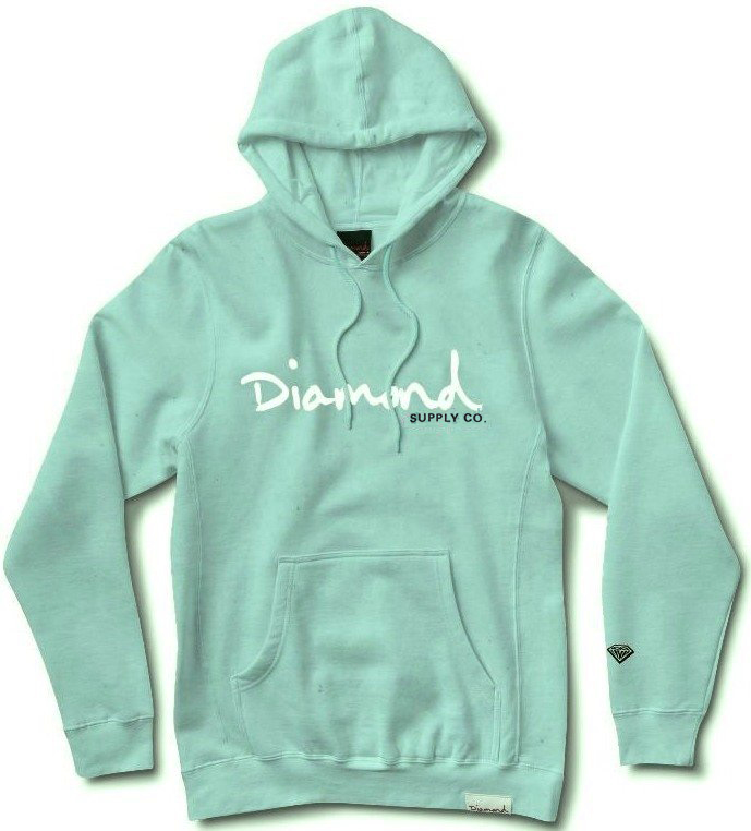 84b9d8ca Diamond Supply Co OG Script Pigment Overdyed Hoodie, Mint | SK8 Clothing  Canada