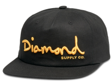 Diamond Supply Co OG Script Snapback, Black