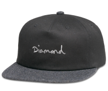 Diamond Supply Co OG Script Two Tone Snapback, Black