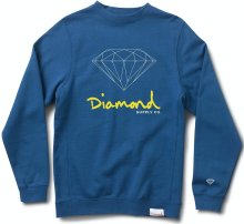 Diamond Supply Co OG Script Crew, Royal Blue