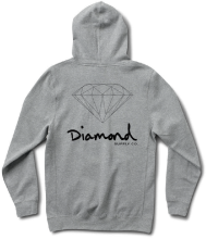 Diamond Supply Co OG Sign Hoodie, Heather Grey