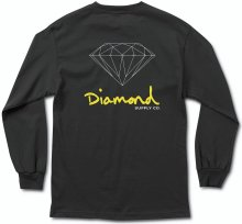 Diamond Supply Co OG Sign LS Tee, Black