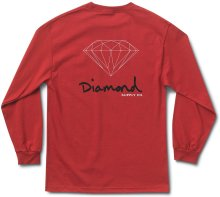Diamond Supply Co OG Sign LS Tee, Red