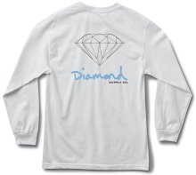 Diamond Supply Co OG Sign LS Tee, White