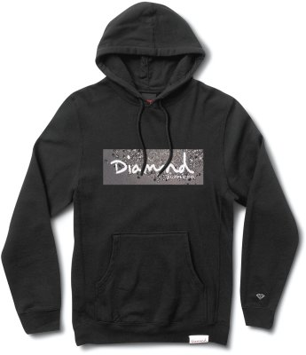 Diamond Supply Co Scattered Box Logo Hoodie, Black