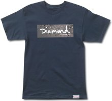 Diamond Supply Co Scattered Box Logo Tee, Navy