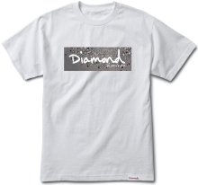 Diamond Supply Co Scattered Box Logo Tee, White