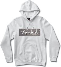 Diamond Supply Co Scattered Box Logo Hoodie, White