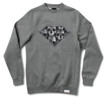 Diamond Supply Diamond Skull Crew, Gunmetal