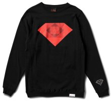 Diamond Supply Emerald Rotoscope Crew, Black