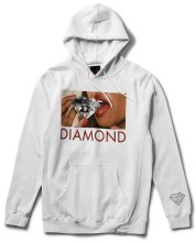 Diamond Supply Lips Hoodie, White