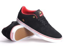 Emerica X Chocolate The HSU Low Vulc Shoes, Black Red