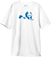 Enjoi Panda Splice Tee, White Blue
