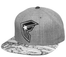 Famous Cash Flow Snapback Hat, Grey
