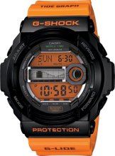 G-Shock Watch GLX150-4, Orange Black