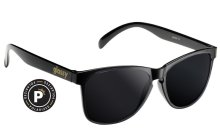 Glassy Deric Polarized Sunglasses, Black