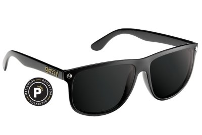 Glassy Mikey Polarized Sunglasses, Matte Black