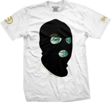 Gold Bad Money Tee, White