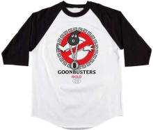 Gold Busters 3/4 Sleeve Raglan Tee White Black