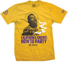 Gold Cali Party Tee, Yellow