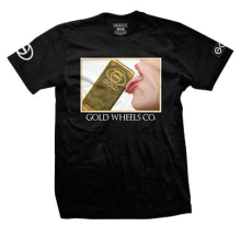 Gold Lick It Tee, Black