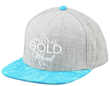 Gold Original Stack Snapback Hat, Heather
