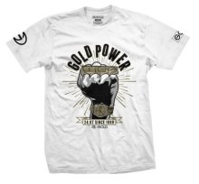 Gold Power Tee, White