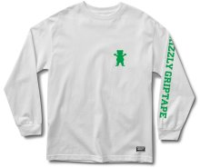 Grizzly Academy LS Tee, White