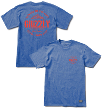 Grizzly All Terrain Tr-Blend Tee, Royal Blue