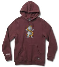 Grizzly Anchor Hoodie, Burgundy