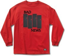 Grizzly Bad Flag LS Tee, RED