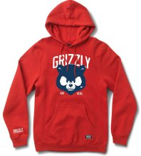 Grizzly Bad News Mascot Hoodie, Red