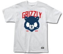 Grizzly Bad News Mascot Tee, White