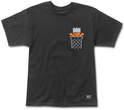 Grizzly Ballin Biebel Pocket Tee, Black
