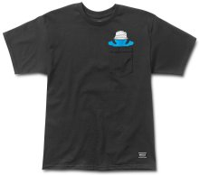 Grizzly Boo Johnson Pocket Tee, Black