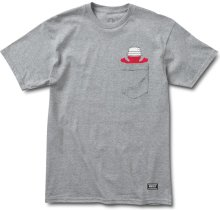 Grizzly Boo Johnson Pocket Tee, Heather Grey