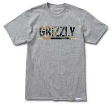Grizzly Branch Camo Stamp Tee, Heather Grey