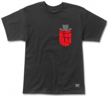 Grizzly Cement Pocket Tee, Black