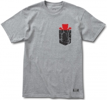 Grizzly Cement Pocket Tee, Heather Grey