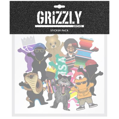 Grizzly Character Sticker Pack